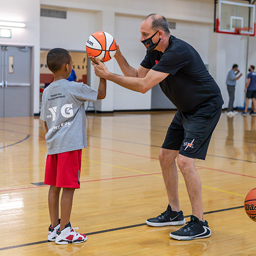 One-On-One Basketball Training Session